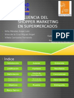 Influencia Del Shopper Marketing en Supermercados