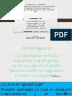 taller 1 teorias de la educacion a nivel superior