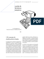 La Clasificación de Fondos Archivísticos Administrativos