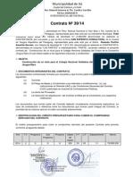contrato contratacion directa municipalidad de ita