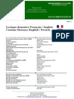 Lexique Douanier Francais Anglais