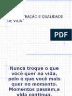 ADMINISTRAÇAO E QUALIDADE DE VIDA