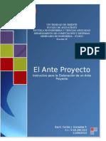 El Ante Proyecto - Manual de Elaboracion