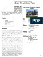 Universidad Nacional Del Altiplano-Puno - Wikipedia, La Enciclopedia Libre