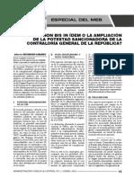 EL NON BIS IN ÍDEM O LA AMPLIACIÓN DE LA POTESTAD SANCIONADORA DE LA CONTRALORÍA GENERAL DE LA REPÚBLICA