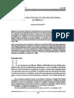 Schedler, Percepciones Públicas Del Fraude Electoral en México