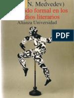 El método formal en los estudios literarios. (PDF) Pável Medvédev.