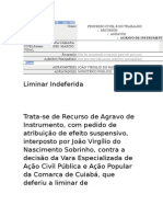 Desembargador Márcio Vidal mantém bloqueio de bens do ex- procurador geral do Estado, João Virgílio Nascimento Sobrinho