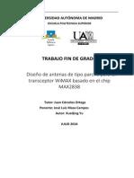 Diseño de Antenas de Tipo Parche Para Un Transceptor WiMAX Basado en El Chip MAX2838