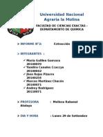 Informe de Extraccion Quimica Organica