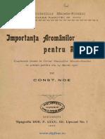 Importanţa Aromânilor Pentru Romania