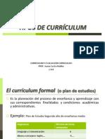 Tipos de Currículum