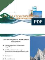 Informe de Los Tipos de Equipos Topograficos y