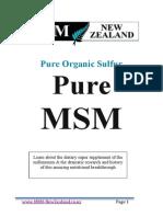 MSM Information Booklet