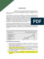 Informe de Antidos Toxicologia