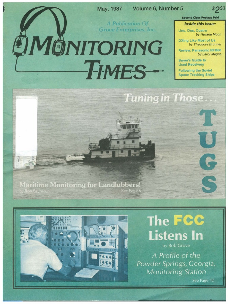 05 May 1987 Canadian Broadcasting Corporation Tugboat Very Basic Motion Tracking With 2 Pir Sensors Lucky Larry