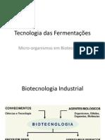Tecnologia Das Fermentações - Microorganismos Em Biotecnologia