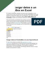 Cómo Cargar Datos a Un ComboBox en Exce1