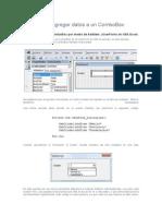 Agregar Datos a Un ComboBox