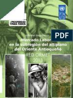 Mercado Laboral en La Subregion Del Altiplano Del Oriente Antioqueno