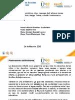 proyecto psicosocial  desnutrición