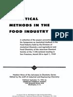 Analytical Methods in Food Industry
