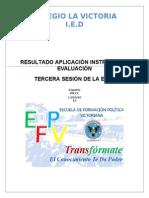 Resultados Tercera Sesion Efpv 2
