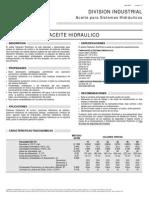 Aceite en Sistemas Hidráulico