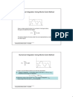 Numerical Integration Using Monte Carlo Method