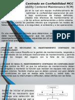 Mantenimiento Centrado en Confiabilidad MCC Diapositivas.