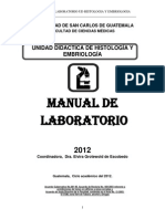 Manual Laboratorio 2012 Histologia