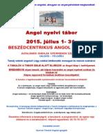 Angol tábor -Szigetszentmiklós - 2015