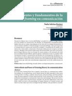 Antecedentes y Fundamentos Del Framing en Comunicación