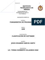 Clasificación de Software y Conceptos Básicos