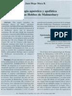 La Teología Agnóstica y Apofática de Thomas Hobbes de Malmesbury