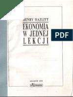 Henry Hazlitt - Ekonomia w Jednej Lekcji