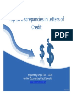Top 10 Discrepancies in Letters of Credit