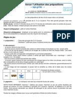 FR JG052 Prepositions Francais TapGrille