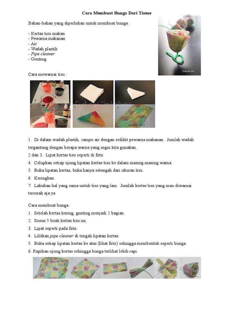 Cara Membuat Bunga Dari Tissuedoc