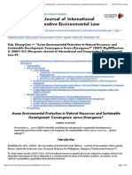 """Asian Environmental Protection in Natural Resources and Sustainable Development"