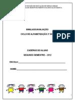 Simulado PROALFA 2012.doc