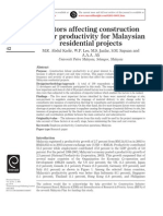 Structural-survey Malaysian Productivity