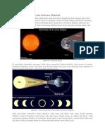 Proses Gerhana Bulan Dan Gerhana Matahari