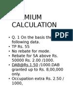 2.5 Premmium Calculation