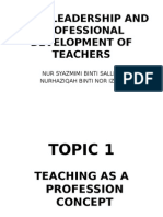 Basic Leadership and Professional Development of Teachers