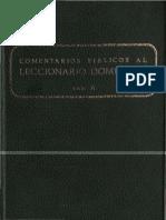 Comentarios Biblicos Al Leccionario Dominical A