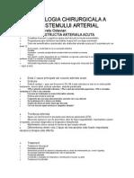 Semiologia Chirurgicala a Sistemului Arterial