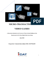 Micro Transaction in Video Games