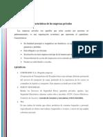 Caracteristicas de Las Empresas Públicas y Privadas en El Ecuador