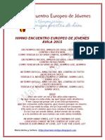 HIMNO OFICIAL PARA EL ENCUENTRO EUROPEO DE JÓVENES 2015